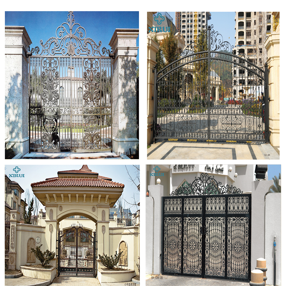 High Quality Safety Iron Main Gate Designs Wrought Iron ...