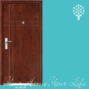 Steel wooden armored door,best wedding door gift,single door design