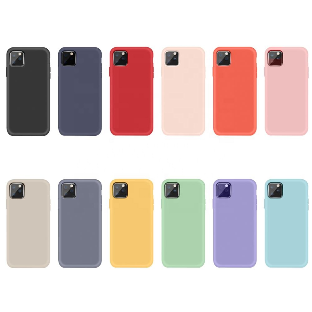 For iPhone 11 Phone Cases Liquid Silicone Rubber Soft Cover  For iPhone 11 Pro Max with LOGO