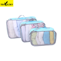 Popular design hot sale luggage pack organizer storage bag travel outdoor packing cubes
