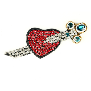 New Products 2018 Strass Hotfix Motif Rhinestone Beaded Fabric Face Jewel Stickers