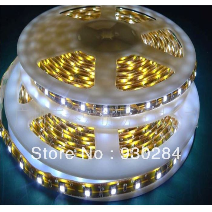 5m 3528 warm white outdoor waterproof ip65 bar flexible led strip light 60d m lighting led line. Black Bedroom Furniture Sets. Home Design Ideas