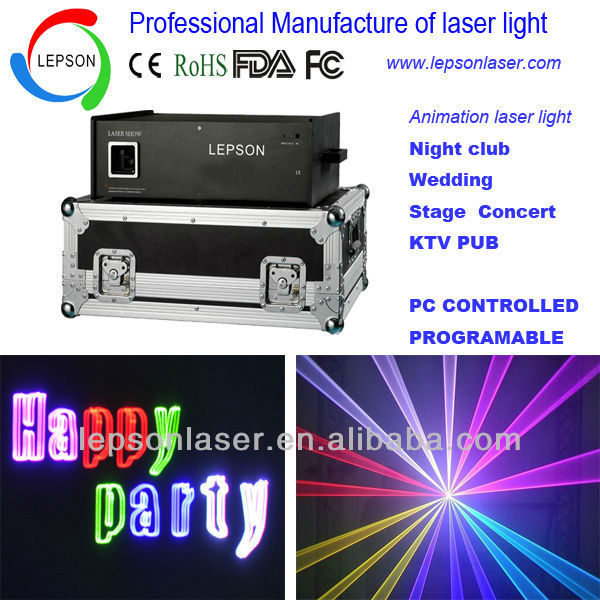 RGB animation laser lighting ILDA PC controled