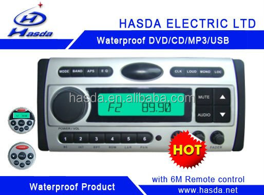 Waterresistant motorcycle DVD with bluetooth LCD screen and radio Hasda H-3008