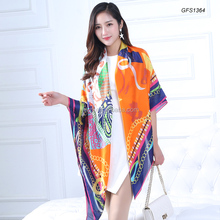 Women's Fashion Printed Twill Silk Wrap Shawl Square Scarf