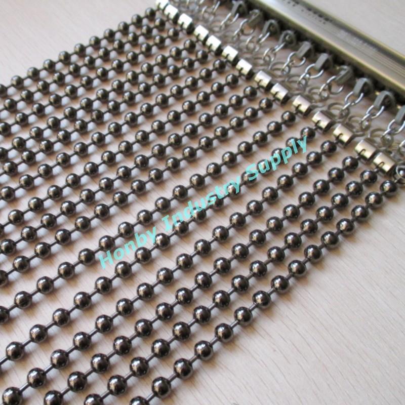 Mode 6mm glanzend zilver kleur metalen bal ketting gordijn voor kantoor partitie kantoor - String kantoor ...