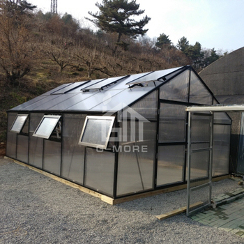 G-MORE Titan/Grange Series, 4M Width/6M Length, Super Strong High Quality Aluminum/10MM Polycarbonate Farm Greenhouse(GM32406-B)