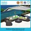 Wicker Rattan Garden Set Indoor Outdoor Sofa Lounge Couch Table Furniture Black