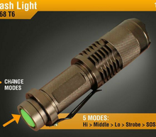STL Waterproof Mini Pocket STL XML-T6 LED Flashlight Torch 2000 lumens 5-Mode Zoomable SK68-T6 Model