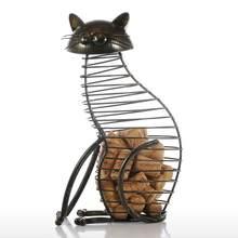 Tooarts металлические статуэтки для кошек, винный пробковый контейнер, современный стиль, железное ремесло, подарок, искусственные животные, м...(Китай)