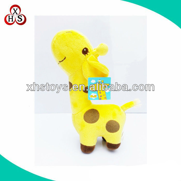 OEM Cute yellow christmas decoration giraffe stuffed