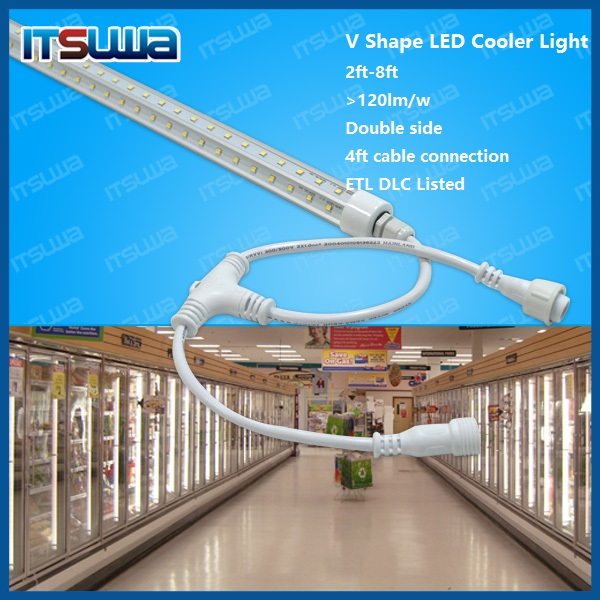 v shaped 8ft led tube with single pin connectors