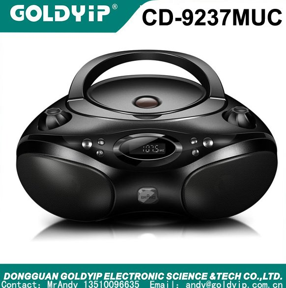 portable MP3/CD player ,AM/FM stereo radio and USB input