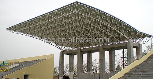 Large Scale Space Frame Steel Truss stadium bleacher roof