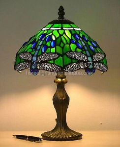 DFC-16064 tiffany stained glass home decorative desk light christmas led table lamps with glass shades