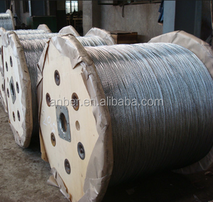Steel Wire Rope Galvanized/ Non-galvanized, Linear Contact Lay Wire Rope