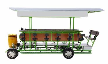 Zzmerck Manufacturer 4 Wheel Electric Mobile Beer Bike Bar 15