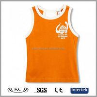 high quality sale online man orange sleeveless basketball t-shirts