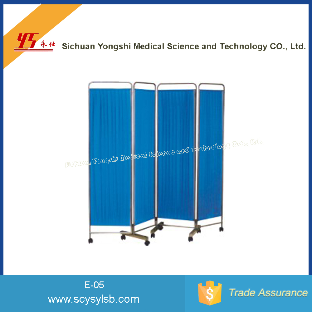 Wholesale cheap stainless Steel ward Folding Bedside Screen for Hospital/Clinic