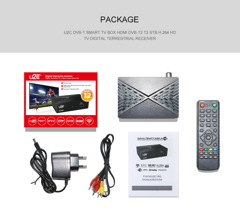 Hot selling 1080P H.264   MPEG4 MINI 90mm DVB T2 C combo Set top box STB smart IPTV Receiver with GX3235 CHIP