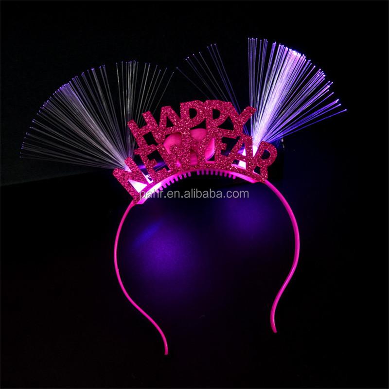 Christmas Fancy Dress LED Light Happy New Year Flashing Headband Christmas An