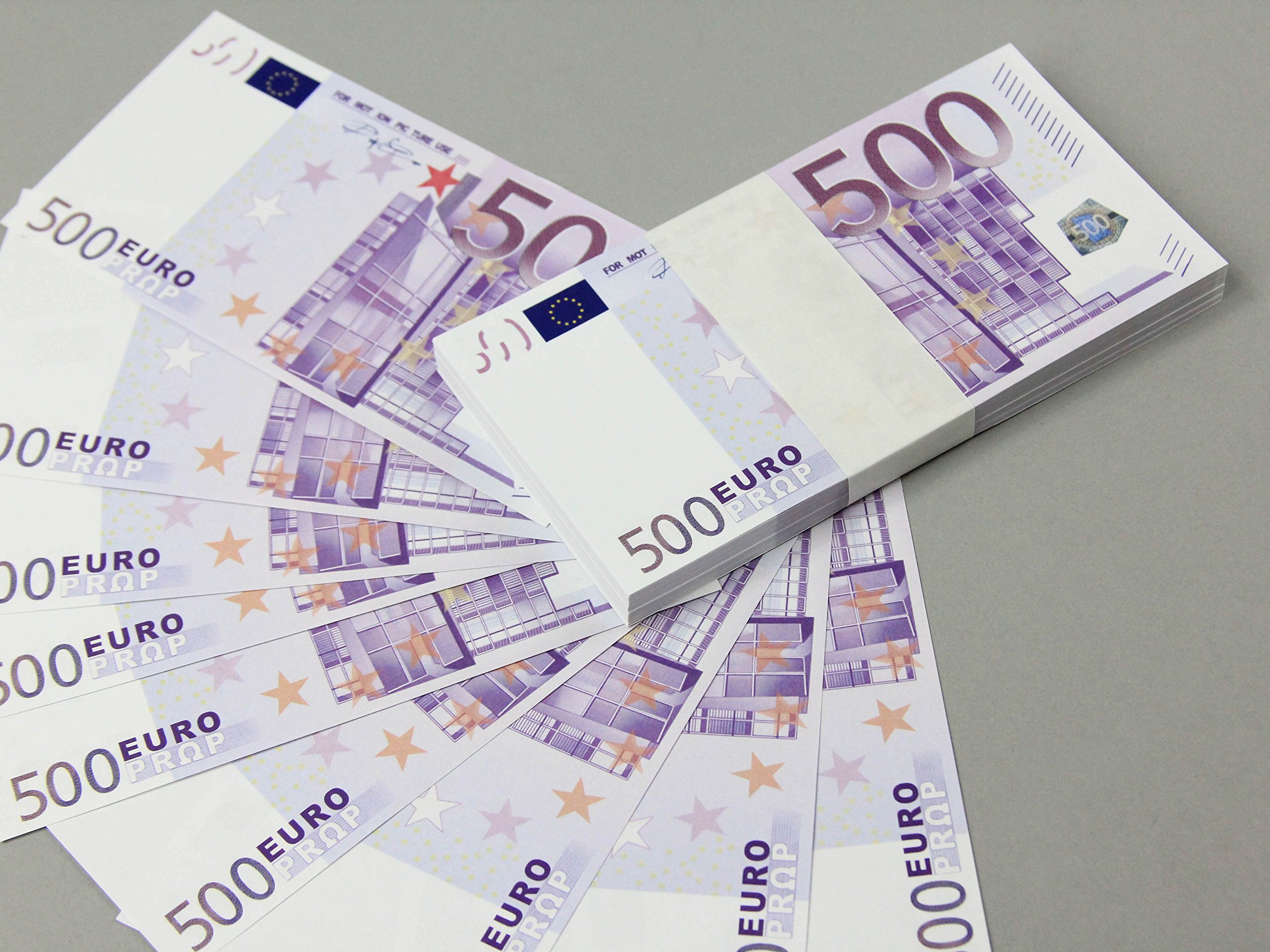 Get Quotations Euro 500 Full Print Double Sided Prop Money Stack For Movie Tv Videos