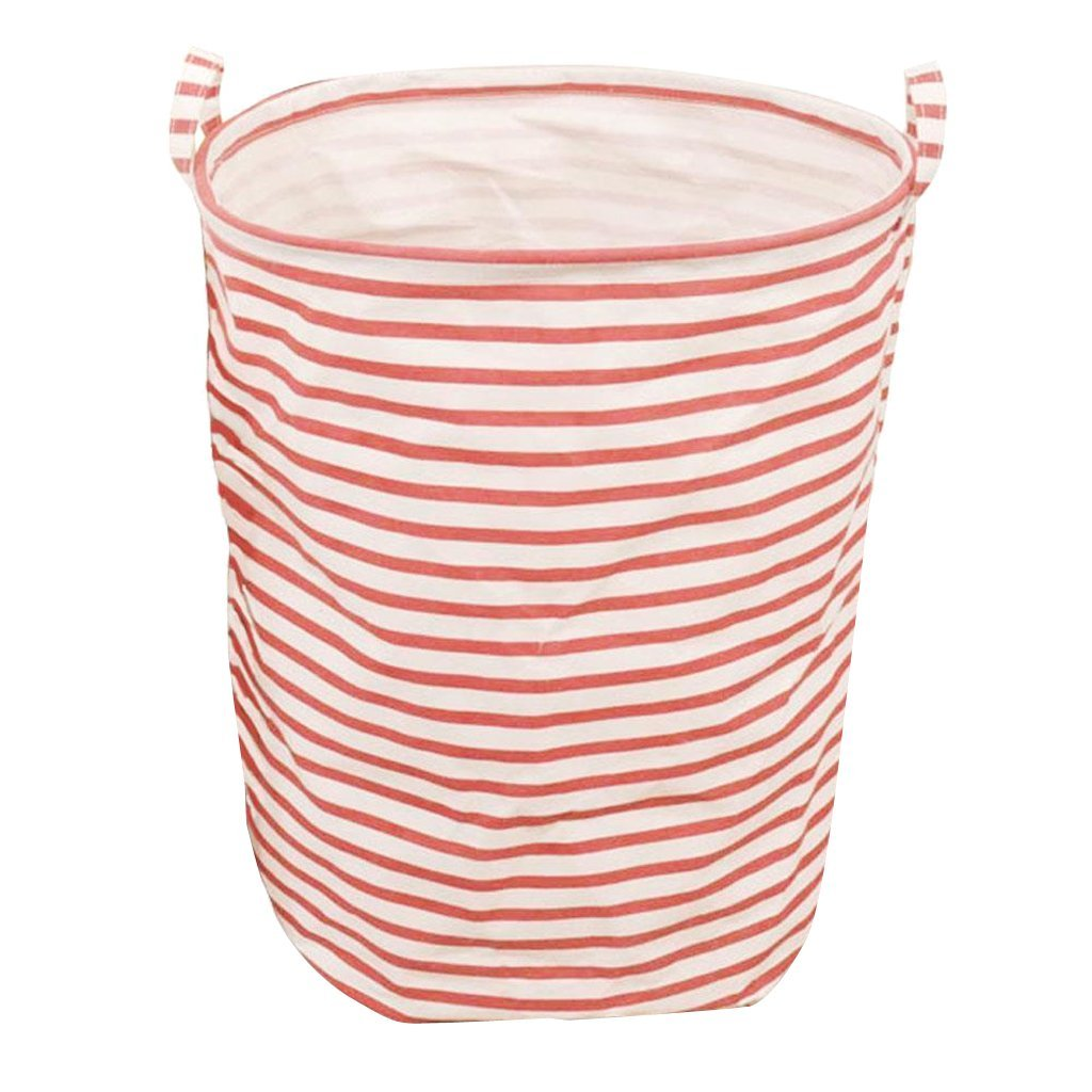 Get Quotations Monkeyjack Storage Laundry Hamper Clothes Basket Toy Bucket Bin Red Stripe 40x50cm