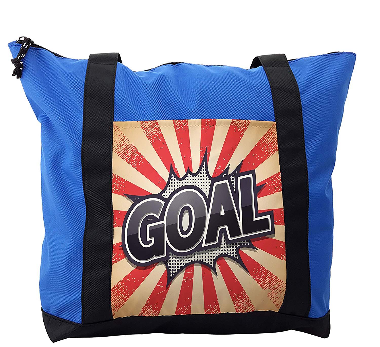4f78c78549c Get Quotations · Lunarable Sports Shoulder Bag, Retro Artwork Goal  Sunshines, Durable with Zipper