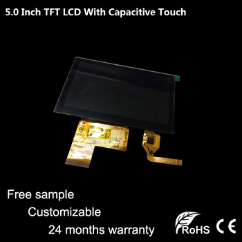 [Free Sample]Topfoison Most Popular optical 5 inch 800*480 resolution tft lcd display panel for electronical product