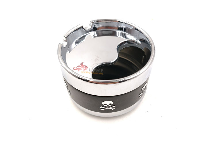 T036AM LVHE Flexible Pocket Small Size Aluminum Skull Ashtray Portable