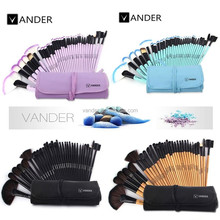 USA Stock VANDER 32pc Professional Cosmetic Makeup Brush Foundation Eye Shadows Powder Make Up Brushes Free Shipping