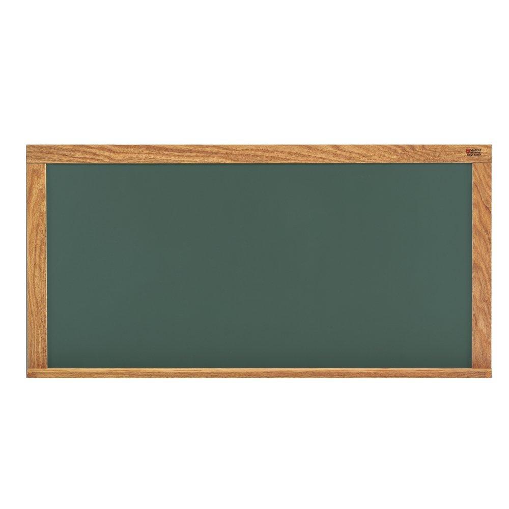 "Marsh 33-1/2""x 45-1/2"" Green HPL Chalkboard on 1/2 FB with Mylar, Oak Trim"