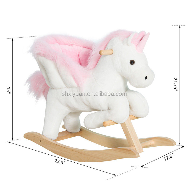 2018 Hot sale kids ride on stuffed animal toys fashional rocking horse