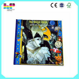 high quality hard cover book printing, book about magic mask printing
