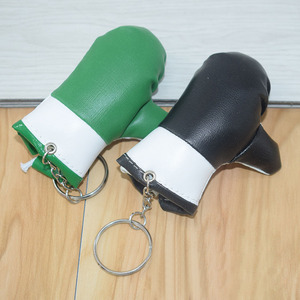 Nice party gift pu leather glove keychains little boxing glove key ring