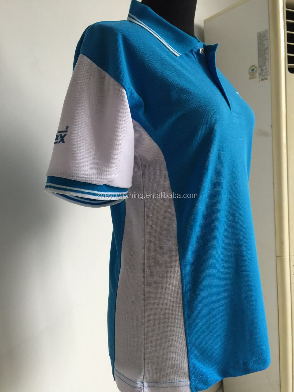 custom embroidery polo shirt green poly cotton polo for promotion