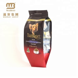 Factory Suppliers Wholesale Custom Design Plastic Dog Food Zipper Top Pet Food Packaging