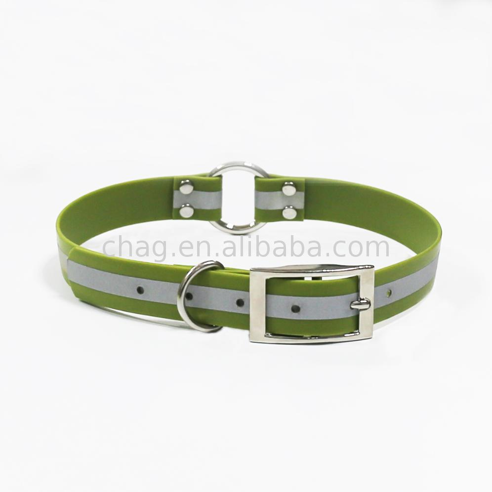 Comfortable new design hunting accessory pvc dog collar with center o ring accessories hound training