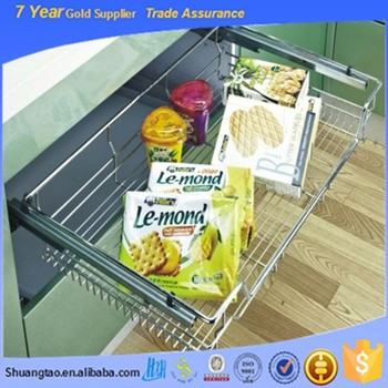 Portable Useful Kitchen Cabinet Organizer,Pull Out Wire Basket ...