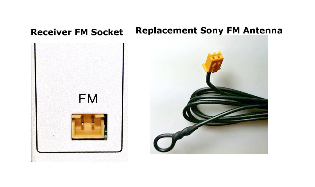 Replacement Antenna for Sony Compact Disc Receiver Ancable 2PIN FM Antenna