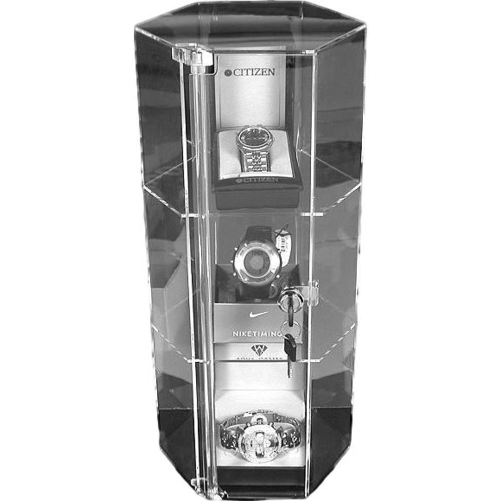 Large Revolving Showcase Display Locking Acrylic Case