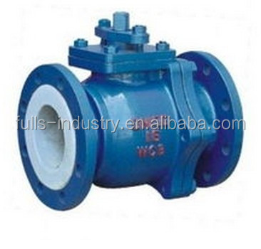 Electric lining fluorine O type ball valve