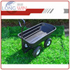 weather resistant garden tool rolling plastic outdoor poly small dump trailer
