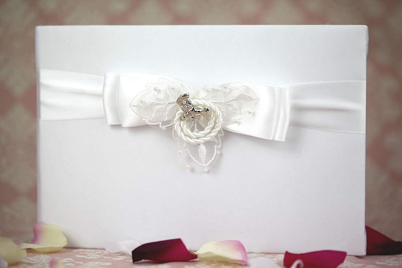 Western Cowboy Lasso Wedding Guestbook and Pen Set: Boot Color: Silver - Set Color: White/Silver Pen