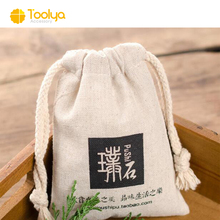 Custom canvas cotton high quality printed promotional drawstring bag