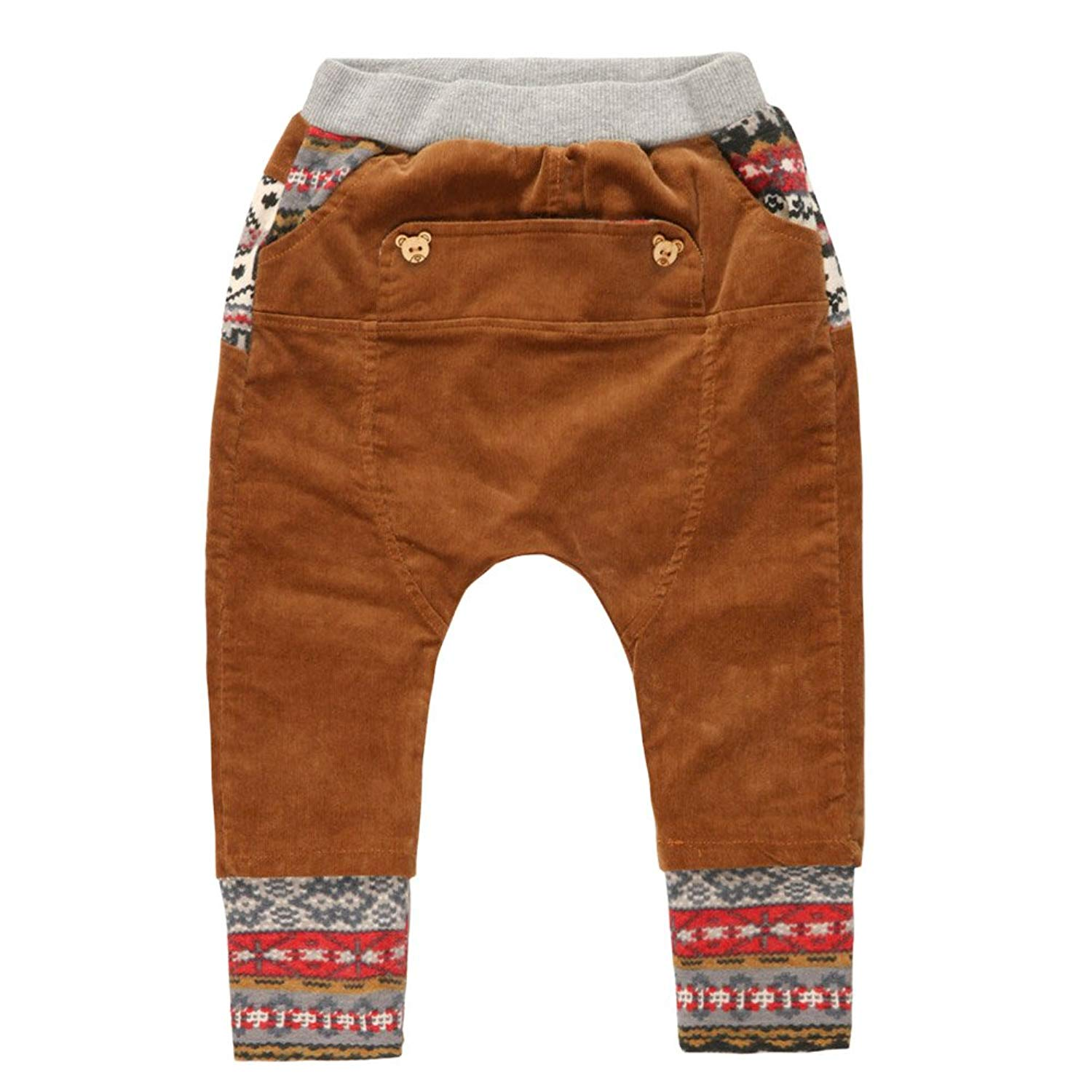 f622b93668 Get Quotations · eTree Boys' Corduroy Cotton Knitting Bottom And Waist  Baggy Collapse Pants