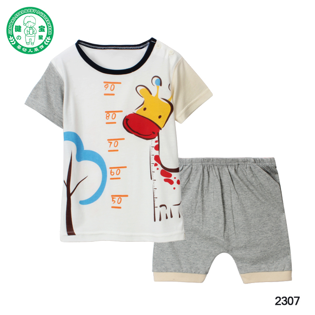 Designed Wholesale Infant and Toddler Clothes Baby short sleeves clothes