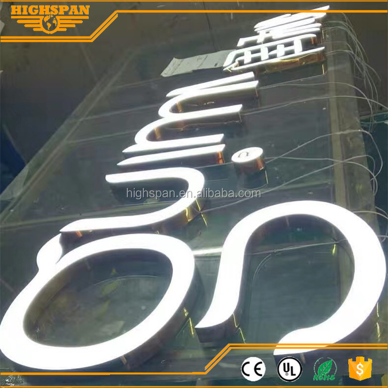 New style LED front lit hotel sign