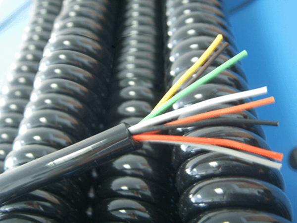 Pvc Coil Cable : Core coil wire pvc spiral cable car charger cigarette