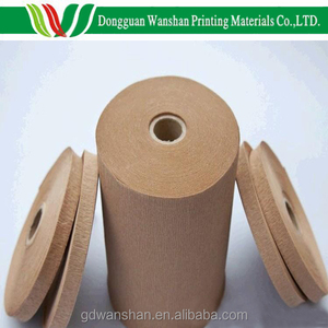 45gsm kraft crepe paper in roll with brown or white for hardback spine wrapping